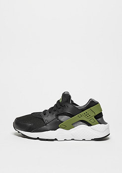 Huarache Run black/palm green/dark grey