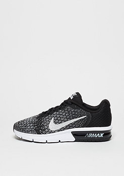 Air Max Sequent 2 (GS) black/metallic silver/dark grey