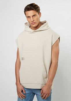 T-Shirt BL Hoody Sleeveless On Top Drobshoulder beige