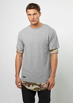 T-Shirt BL Deuces Long Layer grey