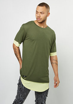 T-Shirt BL Deuces Long Layer olive