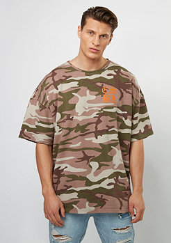 T-Shirt BL Doomed Oversized Drop Shoulder olive