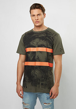 T-Shirt BL Our Father Scallop Back olive