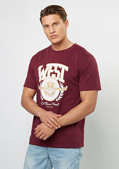 T-Shirt WL West University maroon