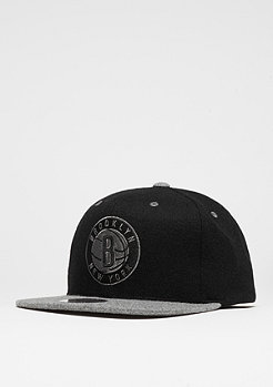 Snapback-Cap Melton Contrast NBA Brooklyn Nets black