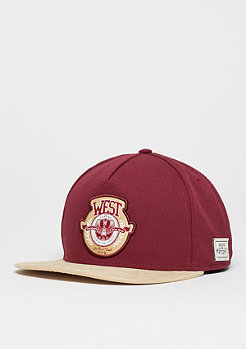 Snapback-Cap West University maroon