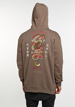 Hooded-Sweatshirt Hood Dragon Mushroom/Multi