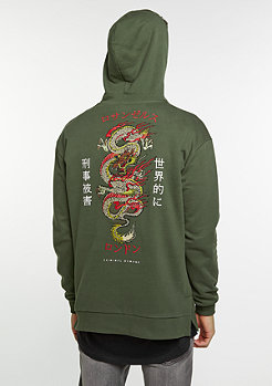Hooded-Sweatshirt Hood Dragon olive/multi