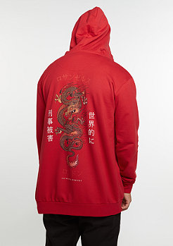 Hooded-Zipper Dragon red/multi