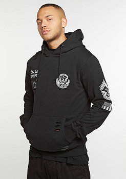 Hooded-Sweatshirt Security black/white