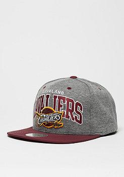 Snapback-Cap Nubuck Team Arch NBA Cleveland Cavaliers grey/burgundy