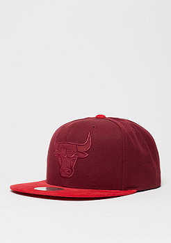 Baseball-Cap Max NBA Chicago Bulls burgundy/red