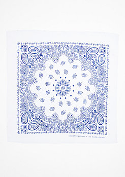 Bandana white/royal