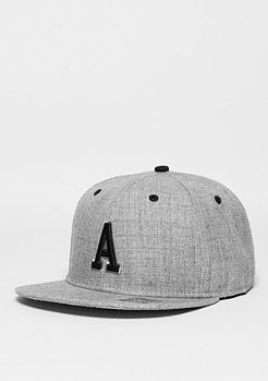 Snapback-Cap Letter A heather grey