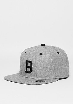 Snapback-Cap Letter B heather grey