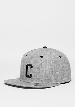 Snapback-Cap Letter C heather grey