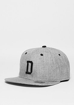 Snapback-Cap Letter D heather grey