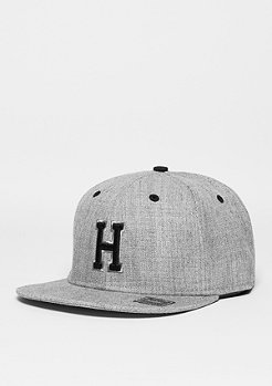 Snapback-Cap Letter H heather grey