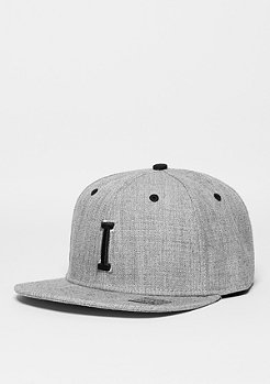 Masterdis Snapback-Cap Letter I heather grey
