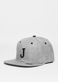 Snapback-Cap Letter J heather grey