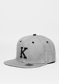 Snapback-Cap Letter K heather grey