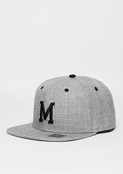 Snapback-Cap Letter M heather grey