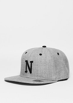 Snapback-Cap Letter N heather grey
