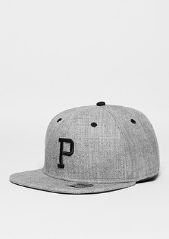 Snapback-Cap Letter P heather grey