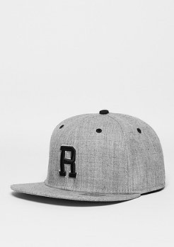 Snapback-Cap Letter R heather grey