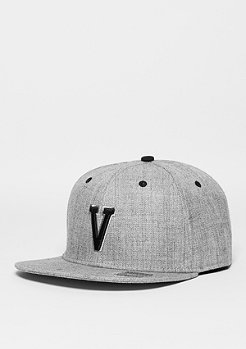 Snapback-Cap Letter V heather grey