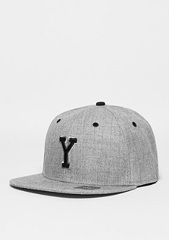Snapback-Cap Letter Y heather grey