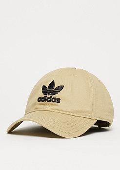 Baseball-Cap Trefoil linen khaki/black