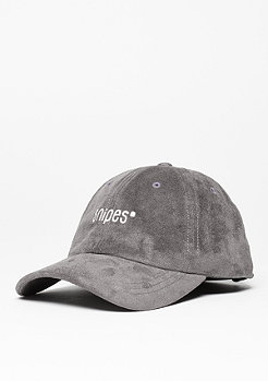 Baseball-Cap Velours charcoal