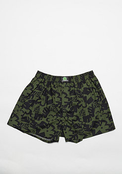 Boxershort Oliv-Surf black/green