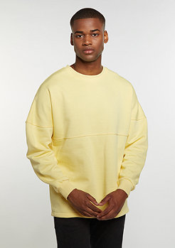 Sweatshirt Oversized Crew yellow