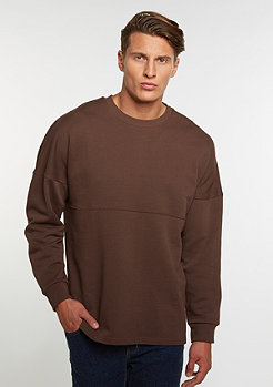 Sweatshirt Oversized Crew brown