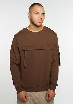 Sweatshirt Military Crew brown