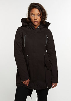 Winterjacke Sherpa Lined Cotton Parka black