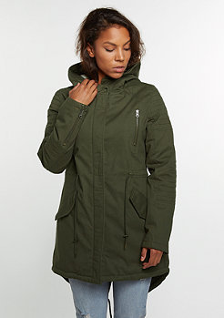 Sherpa Lined Cotton Parka olive