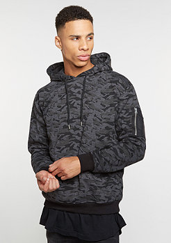 Hooded-Sweatshirt Bomber dark camo