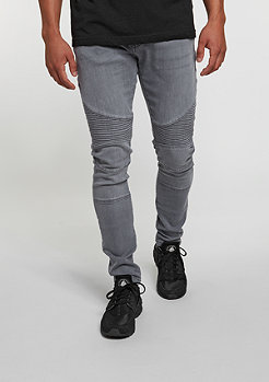 Jeans-Hose Slim Fit Biker grey