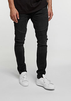 Urban Classics Jeans Slim Fit Biker black washed