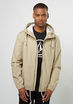 Hooded Cotton Blouson sand