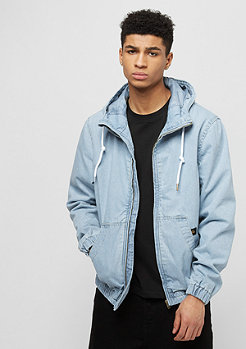 Hooded Denim Blouson blue