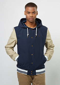 Hooded Cotton Blouson navy/sand