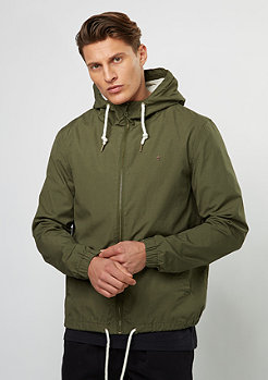 Hooded Cotton Blouson olive