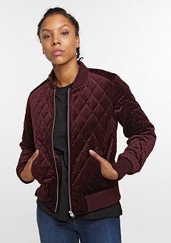 Übergangsjacke Diamond Quilt Velvet burgundy