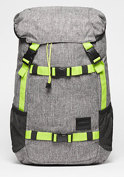 Rucksack Landlock SE heather grey/lime