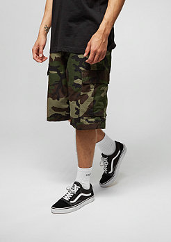 Cargo-Shorts Regular camo green rinsed
