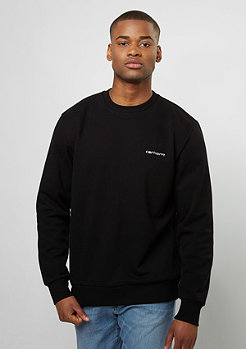 Sweatshirt Script Embroidery black/white